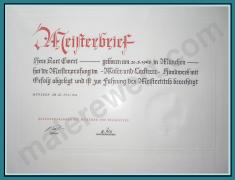 Meisterbrief Maler Ewert, Meisterbetrieb Maler & Lackierer,